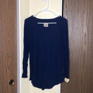 Chaser | Waffle Knit Thermal | Navy Blue | XXL